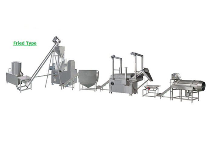 Fried  / Baked Kurkure Making Machine , Corn Puff Extruder Machine 18*2*3.5m Size
