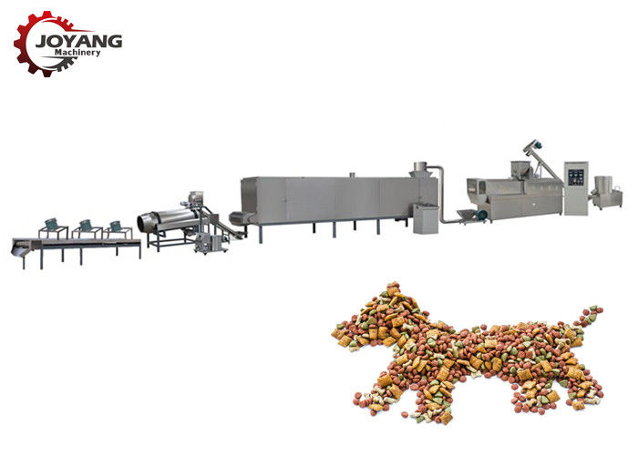 SS Dry Pet Food Production Line Electric / Diesel Energy Longer Service Life